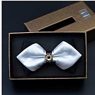 Herre Solid Butterfly,Polyester Ensfarvet Hvid Sort Navyblå Vin