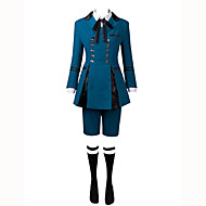 Inspired by Black Butler Ciel Phantomhive Anime Cosplay Costumes Cosplay Suits Solid Colored Long Sleeve Cravat / Shirt / Top For Men's