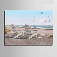 Moderne / Nutidig Andre Veggklokke,Rektangulær Lerret35 x 50cm(14inchx20inch)x1pcs/ 40 x 60cm(16inchx24inch)x1pcs/ 50 x