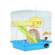 billige TIlbehør til smådyr-Gnavere Hamster Plast Bur Gul Kaffe Rød Blå