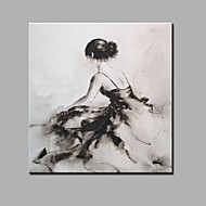 Håndmalte Abstrakt Mennesker Firkantet,Moderne Klassisk Et Panel Lerret Hang malte oljemaleri For Hjem Dekor