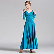 Επίσημος Χορός Φορέματα Γυναικεία Επίδοση Τούλι / Mohair Χιαστί Μακρυμάνικο Φυσικό Φόρεμα