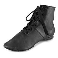 hesapli Dans Ayakkabıları-Erkek / Kadın's Caz Dans Ayakkabıları Tüylü Botlar / Spor Ayakkabı / Ayrık Taban Kalın Topuk Kişiselleştirilmiş Dans Ayakkabıları Siyah