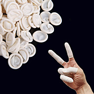 50Pcs White Protective Latex Finger Cots Finger Hand Protector Latex Glove