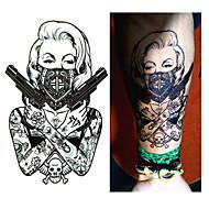 1 Tatoeagestickers Romantic Series WaterproofDames Heren Tiener Tijdelijke tatoeage Tijdelijke tatoeages