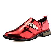Homme Chaussures Similicuir Printemps Eté Automne Hiver Oxfords Chaîne Pour Mariage Décontracté Soirée & Evénement Noir Noir et Or Rouge