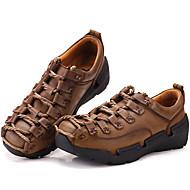 baratos Sapatos de Tamanho Pequeno-Homens Pele Napa Primavera / Verão / Outono Conforto Tênis Aventura Castanho Claro / Festas & Noite