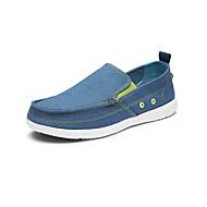 baratos Sapatos Masculinos-Homens Solas Claras Lona Primavera / Verão Mocassins e Slip-Ons Cinzento Claro / Azul Claro / Khaki