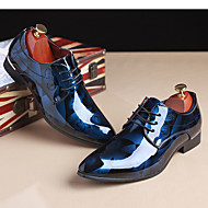 cheap -Men's Printed Oxfords Patent Leather Spring / Fall Oxfords Light Brown / Red / Blue / Party & Evening / Party & Evening / Outdoor / Comfort Shoes / EU40