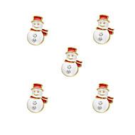 10pcs Cute Snowman Chirstmas Charm 3D Alloy Nail Art Decoration