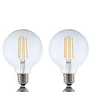 E26/E27 LED-gloeilampen G95 4 leds COB Dimbaar Warm wit 600lm 2700K AC 220-240V