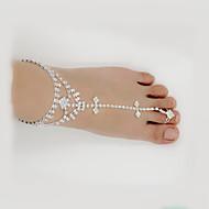 Dame Ankel/Armbånd Simuleret diamant Legering Venskab Mode Boheme Stil Brude Bladformet Smykker Til Bryllup Fest Daglig Afslappet