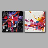 cheap Oil Paintings-Hand-Painted Abstract Square, Modern European Style Canvas Oil Painting Home Decoration Two Panels
