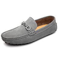 tanie Obuwie męskie-Męskie Komfortowe buty Zamsz Wiosna / Jesień Mokasyny i buty wsuwane Zdatny do noszenia Czarny / Ciemnoniebieski / Szary