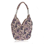 cheap Bags-Women's Bags Linen Shoulder Bag Beading Flower for Wedding Event/Party Casual Formal Office & Career Winter Spring Summer Fall All Seasons
