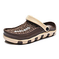 샌들-야외 캐쥬얼 운동-남성-컴포트 조명 신발-인조 합성-플랫-블랙 브라운 다크 블루
