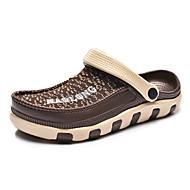 Men's Sandals Spring Summer Fall Comfort Light Soles Synthetic Outdoor Athletic Casual Flat Heel  Black Brown Navy Blue Walking