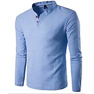 Herrn Solide - Grundlegend Sport Baumwolle T-shirt, Ständer Schlank / Langarm