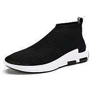Χαμηλού Κόστους Black High Tops-Ανδρικά Παπούτσια Τούλι Χειμώνας Άνοιξη Καλοκαίρι Φθινόπωρο Αθλητικά Παπούτσια Κορδόνια για Αθλητικό Causal Γραφείο & Καριέρα Μαύρο