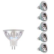 6pcs 5W 380-400 GU5.3(MR16) Lâmpadas de Foco de LED MR16 1 LEDs COB Branco Quente Branco Frio 3000/6500K DC 12 AC 12V