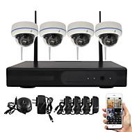 yanse® 1.3MP PNP langaton NVR kit ir hämäränäön 15led WiFi IP-kamera CCTV-järjestelmä