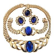 Smykke Sæt Ring Halskæde / Armbånd Krystal Rundt design Unikt design Rhinsten Geometrisk Blomstret Mode Personaliseret Euro-Amerikansk