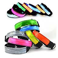 カラー LEDライト 調整可能 / 引き込み式 反射 付属の電池 電子/エレクトリック 点滅 安全用具 ソリッド 虹色 ナイロン