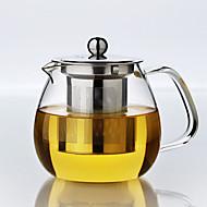 1pc tapa-up bule jogo de chá entretenimento vidro familiar atmosférica