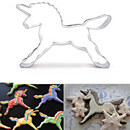 Unicorn Shape Cookie Cutter, L 8.4cm x W 5.7cm x H 2cm, Stainless Steel