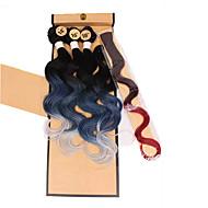 abordables -Tresses Jumbo Tresse Natté Autres Cheveux 100 % Kanekalon Gris Rose Violet Bleu Vert Rajouts de Tresses Extensions de cheveux