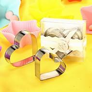 2 stk / kasse hjerteformet metal kage cutter sæt brude brusebad favor beter gaver ® baby gaver