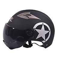 ショート茶ミラーレンズと55〜61センチメートルに適したGXT M11オートバイハーフヘルメットデュアルレンズハーレー日焼け止めヘルメット夏ユニセックス