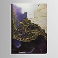 Ručně malované Abstraktní Krajina Vertikálně,Moderní evropský styl Jeden panel Plátno Hang-malované olejomalba For Home dekorace