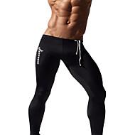 Herre Løbetights / Træningsleggings - Mørkeblå, Grå, Blå Sport Tights / Leggins Sportstøj Hurtigtørrende, Åndbart, Svedreducerende Høj