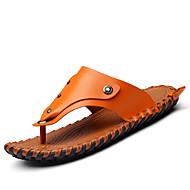 tanie Obuwie męskie-Męskie Komfortowe buty Skóra nappa Wiosna / Lato / Jesień Klapki i japonki Sporty wodne Jasnobrązowy