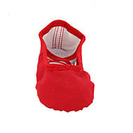 baratos Sapatilhas de Dança-Sapatilhas de Balé Tecido Sapatilha Sem Salto Não Personalizável Sapatos de Dança Vermelho / Verde / Rosa claro / Interior / Espetáculo