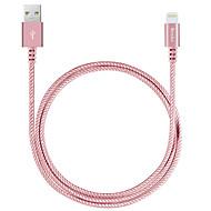 benks nylon Fonott ligthning kábel 2.4a gyorstöltés iPhone 7 6s 6 plusz se 5s 5c 5 / iPad / levegő ipad pro 9.7
