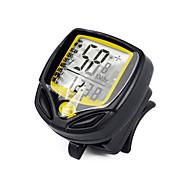 사이클링 산악 자전거 자전거 디지털 장비 Tme - Lapsed Time Av - 평균 속도 주행 기록계 SPD - 현재 속도 주행 거리계(오도미터) 백라이트 옐로 ABS
