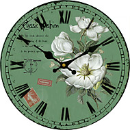 cheap -Traditional Country Retro Floral/Botanicals Characters Music Wall Clock Round  Indoor/Outdoor Clock