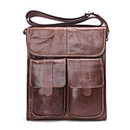 Men Bags All Seasons Cowhide Shoulder Bag for Casual Outdoor Brown Black