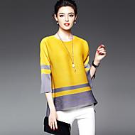 billige Overdele til damer-Dame - Farveblok T-shirt Rayon Polyester