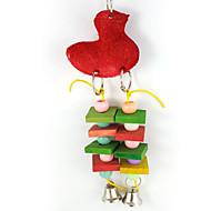 鳥 鳥用おもちゃ ウッド マルチカラー