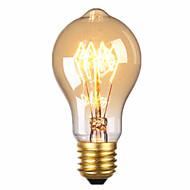 billige Glødelampe-1pc 40 W E26 / E27 A60(A19) Varm hvit 2300 k Kontor / Bedrift / Dekorativ Glødende Vintage Edison lyspære 220-240 V