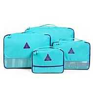 4枚 旅行かばん 旅行かばんオーガナイザー 防水 小物収納用バッグ 多機能 クロス ブラジャー ファブリック トラベル