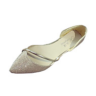 Damen Loafers & Slip-Ons PU Frühling Sommer Normal Flacher Absatz Gold Silber Unter 2,5 cm