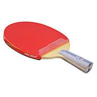 6 Sterne Ping Pang/Tischtennis-Schläger Ping Pang Gummi Kurzer Griff Roh-Kautschuk
