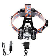 U'King ヘッドランプ ヘッドライト LED 4000 lm 4.0 12 モード Cree XP-G R5 Cree XM-L T6 焦点調整可 小型 ズーム可能 コンパクトデザイン ハイパワー のために キャンプ/ハイキング/ケイビング 日常使用 サイクリング 狩猟