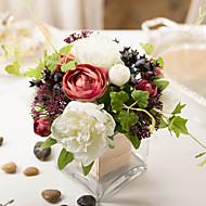 1 Gren Peoner Planter Bordblomst Kunstige blomster
