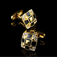 billige Tilbehør til herrer-Geometrisk Form Gylden Mansjettknapper Kobber Klassisk / Gaveesker og poser / Mote Herre Kostyme smykker Til Fest / Forretning / Seremoni