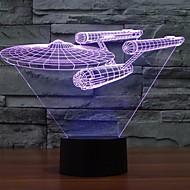7 värimuutos 3d Trek Star taistelulaiva valot värikäs led-valot visuaalista tunnelmaa kosketa kytkin valot